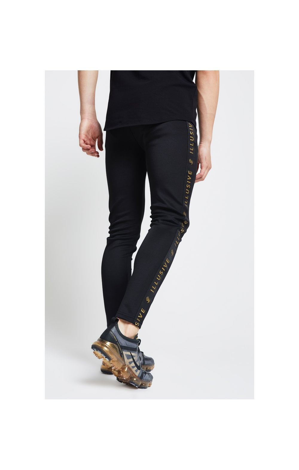 Load image into Gallery viewer, Illusive London Tape Joggers - Black (3)