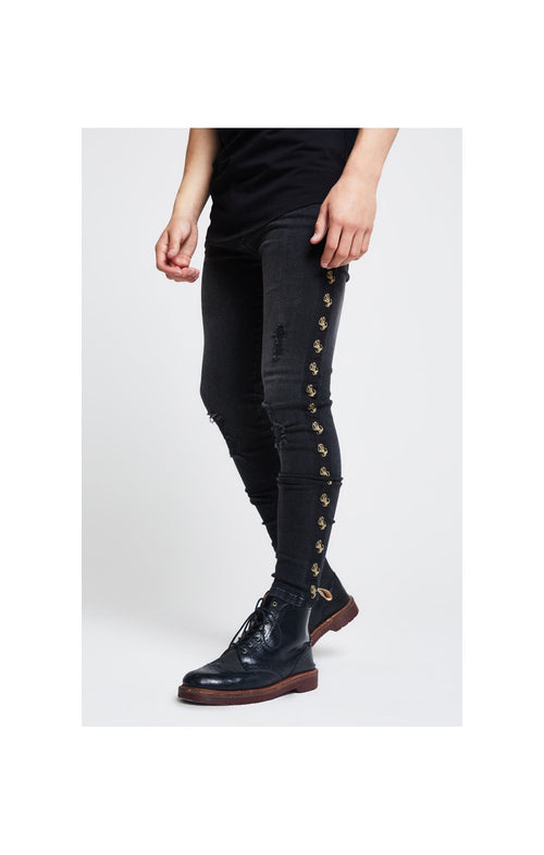 Illusive London Tape Denim – Washed Black