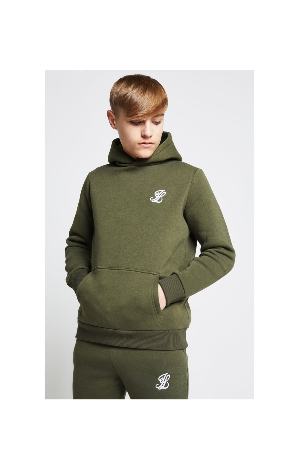 Load image into Gallery viewer, Illusive London Overhead Hoodie - Khaki (1)