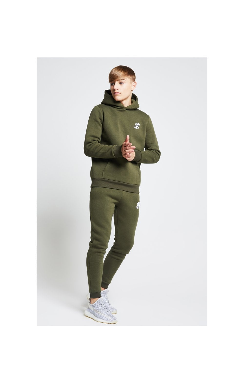 Load image into Gallery viewer, Illusive London Overhead Hoodie - Khaki (2)