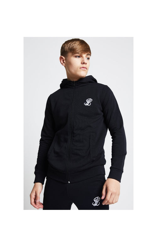 Illusive London Zip Through Hoodie - Black