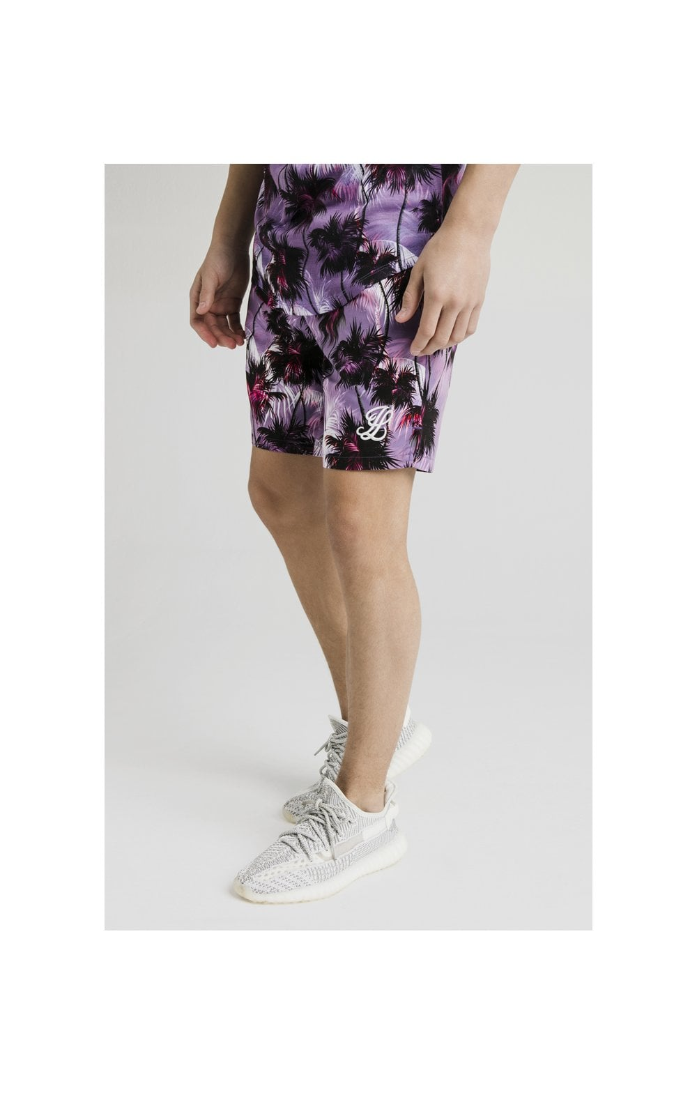 Illusive London Palm Tree Swim Shorts - Purple