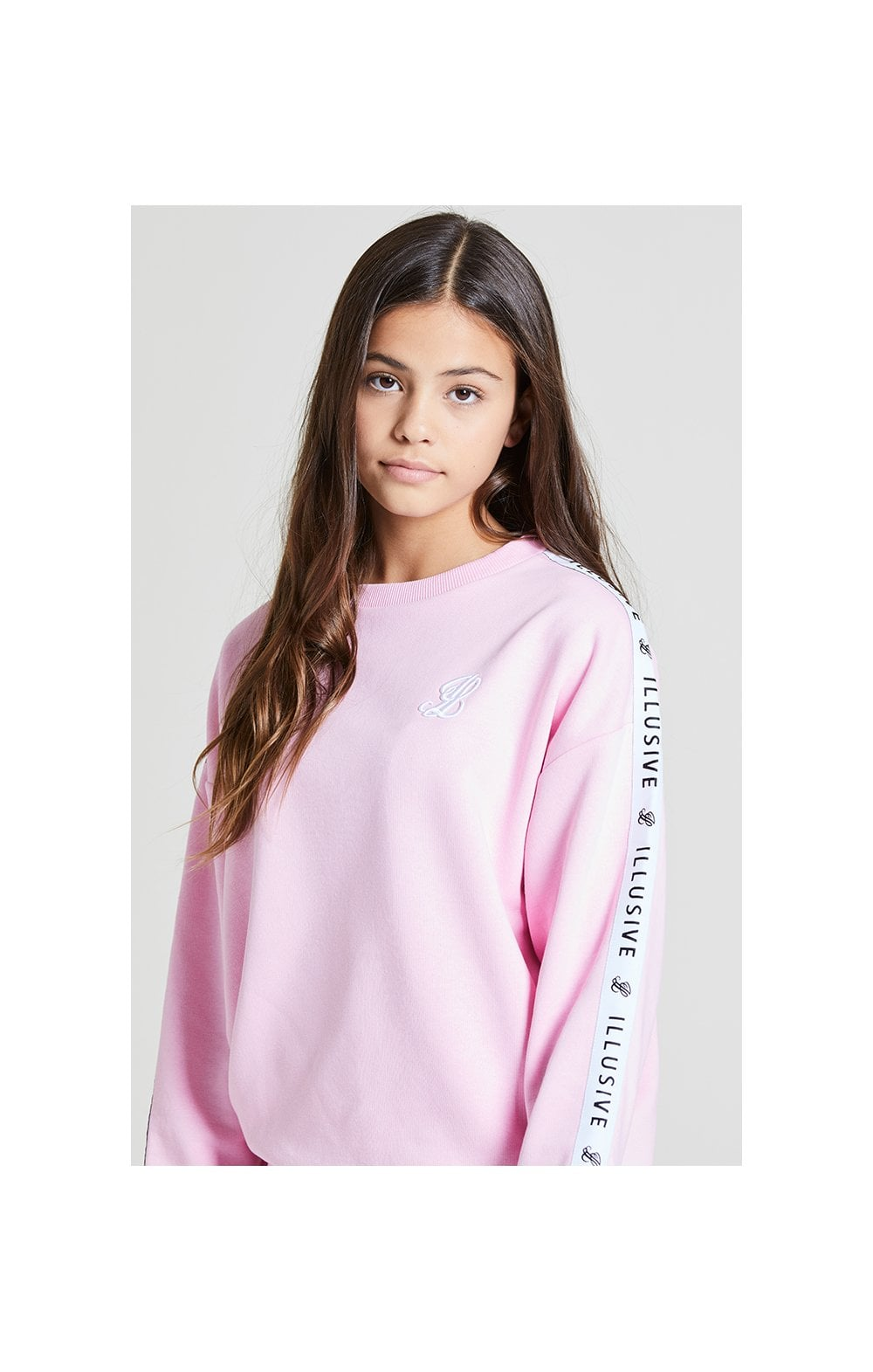 Illusive London Crew Neck Sweater - Pink