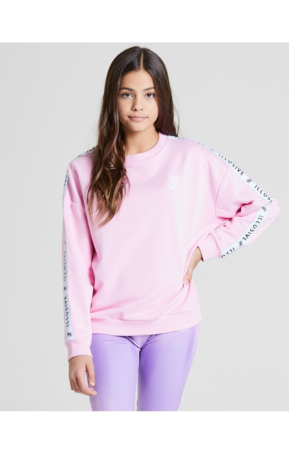 Illusive London Crew Neck Sweater - Pink (1)
