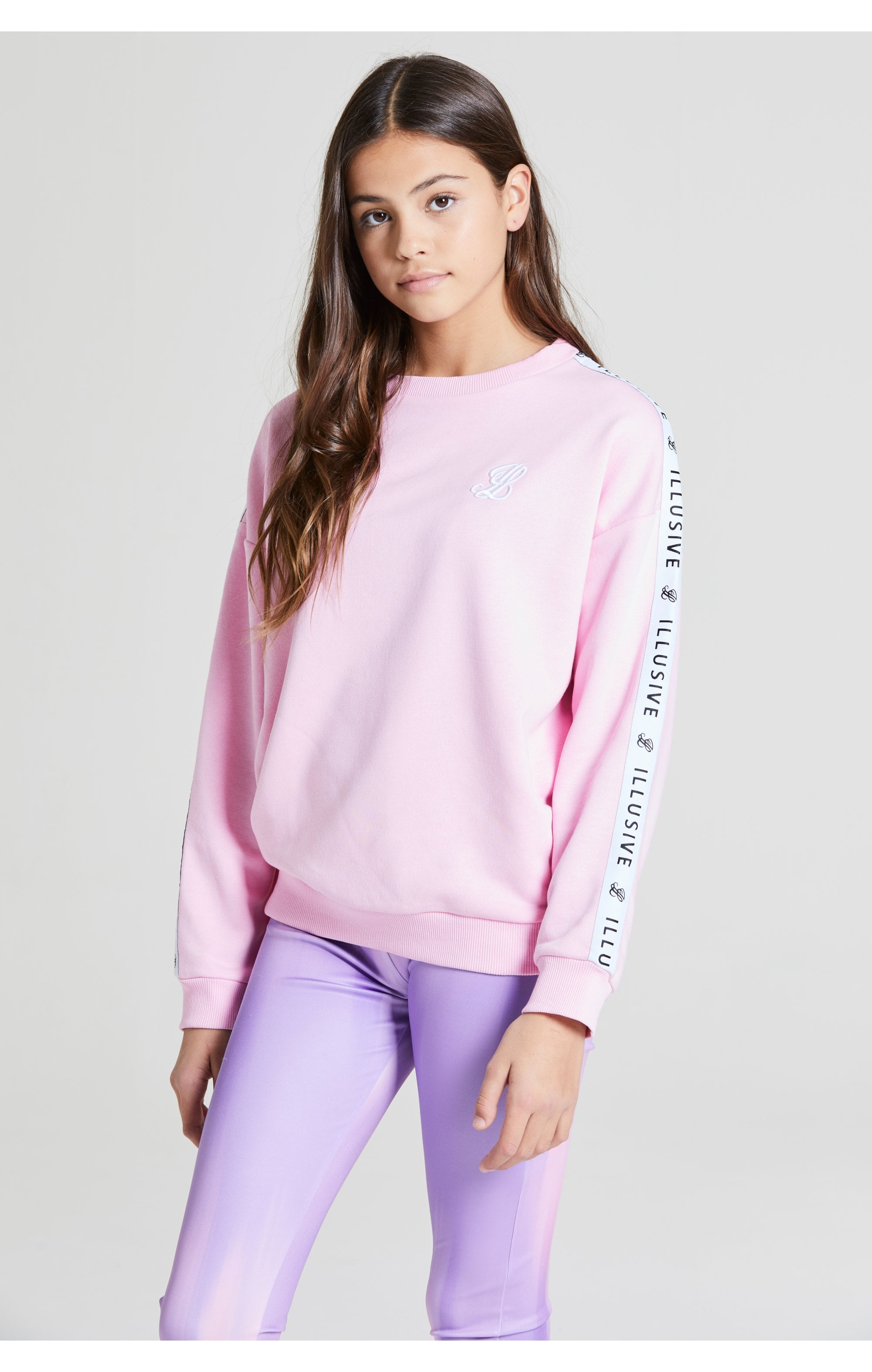Illusive London Crew Neck Sweater - Pink (2)