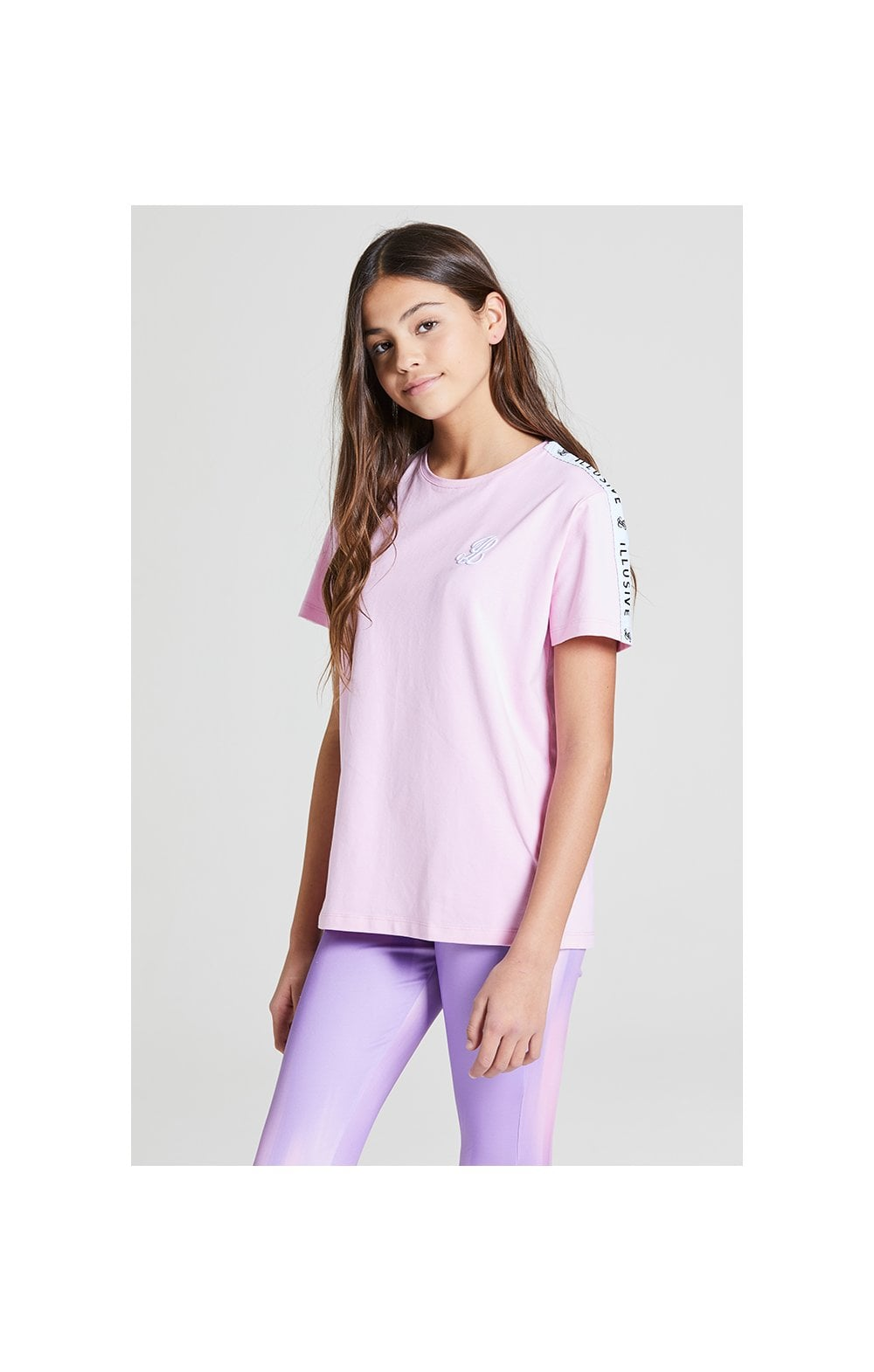 Illusive London BF Fit Taped Tee -  Pink (1)
