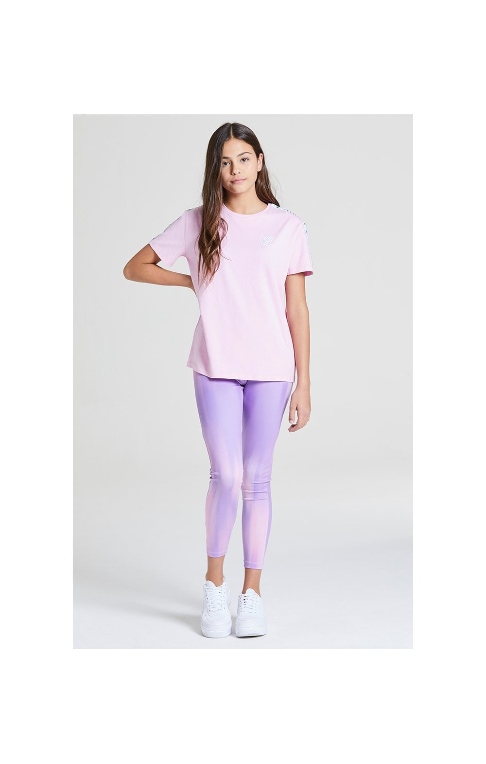 Illusive London BF Fit Taped Tee -  Pink (2)