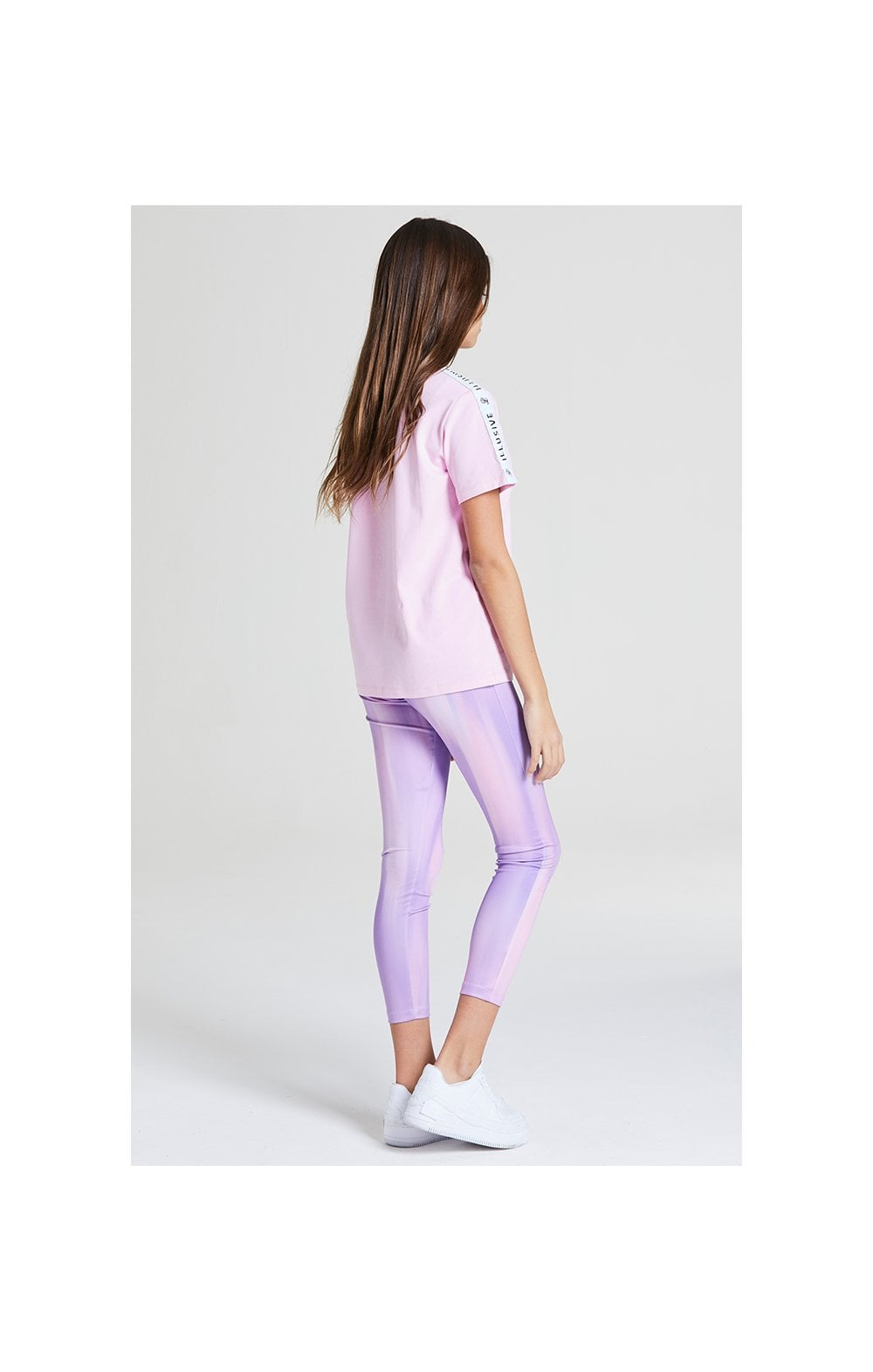 Illusive London BF Fit Taped Tee -  Pink (3)