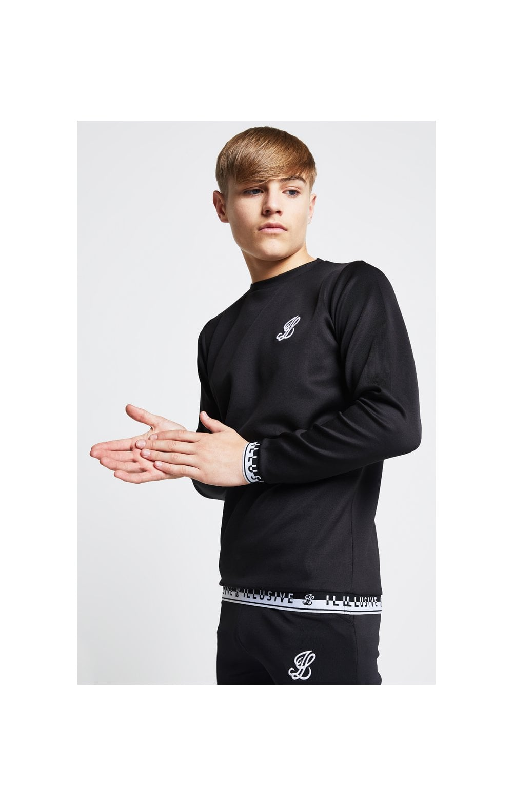 Illusive London Taped Crew Sweater - Black