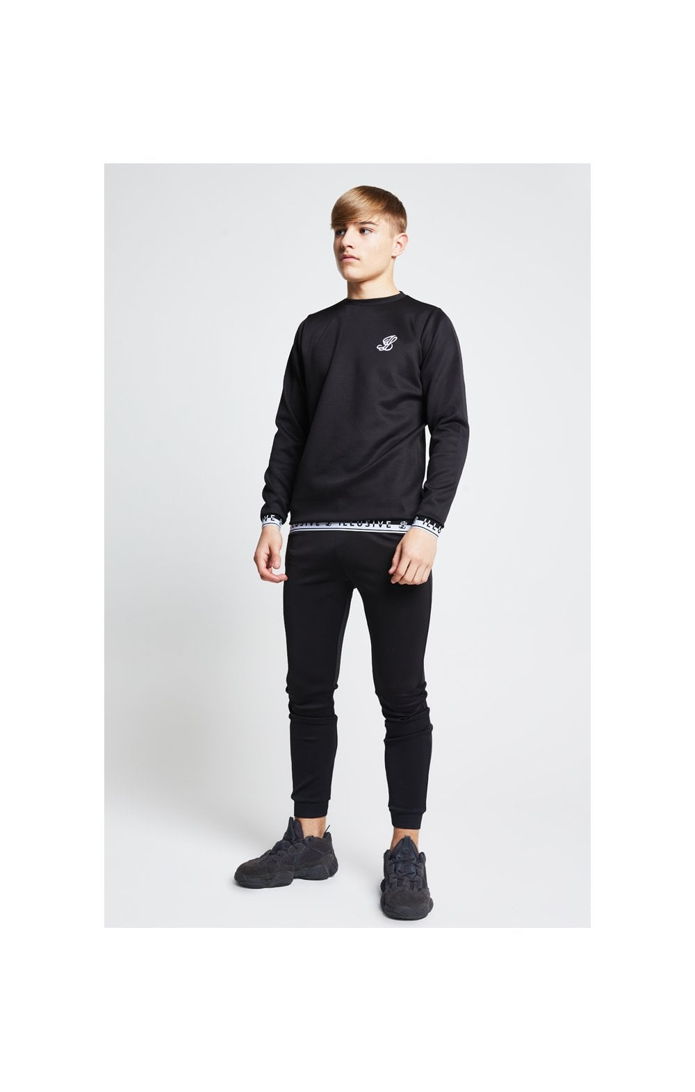 Illusive London Taped Crew Sweater - Black (2)