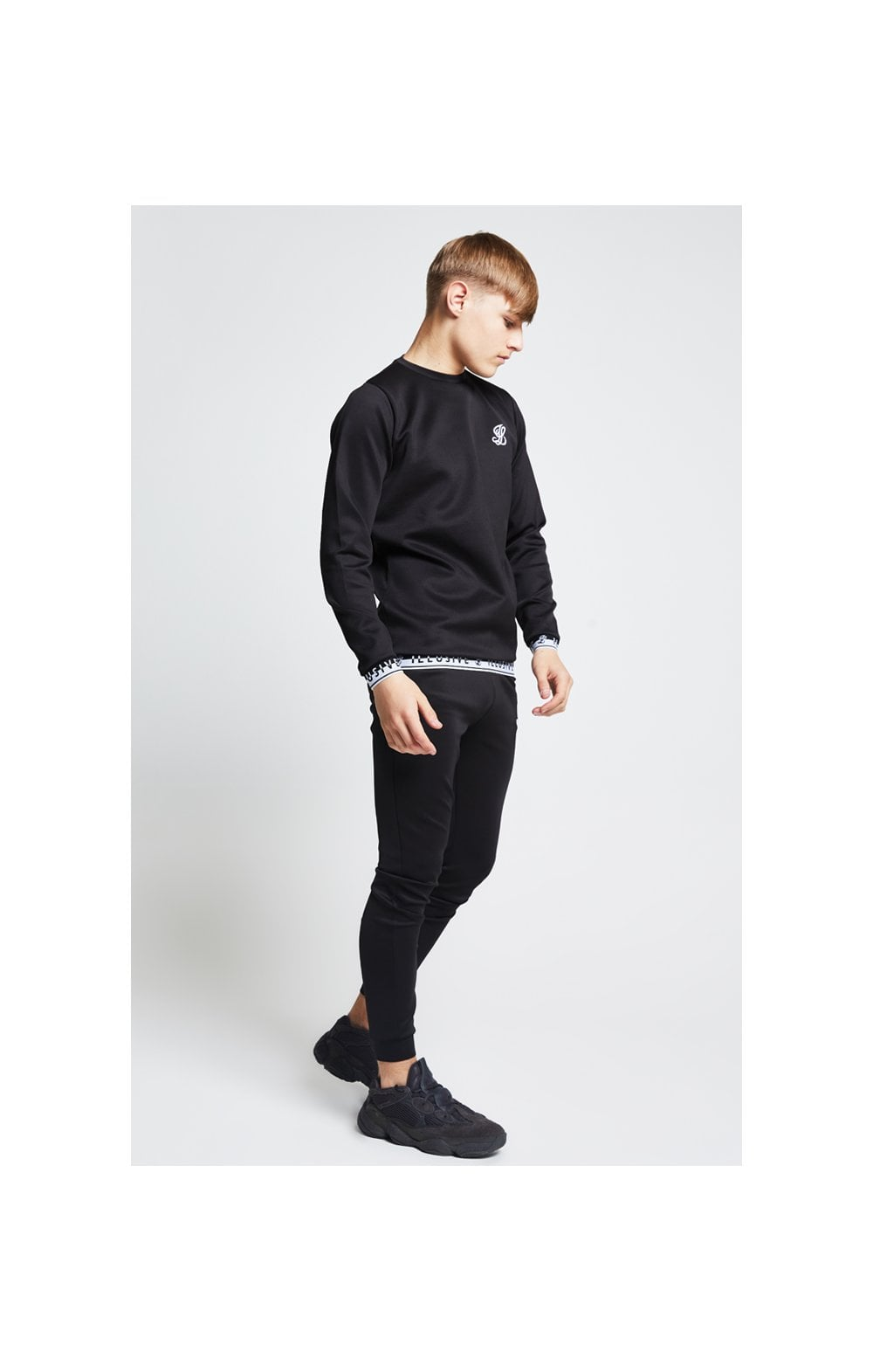 Illusive London Taped Crew Sweater - Black (3)