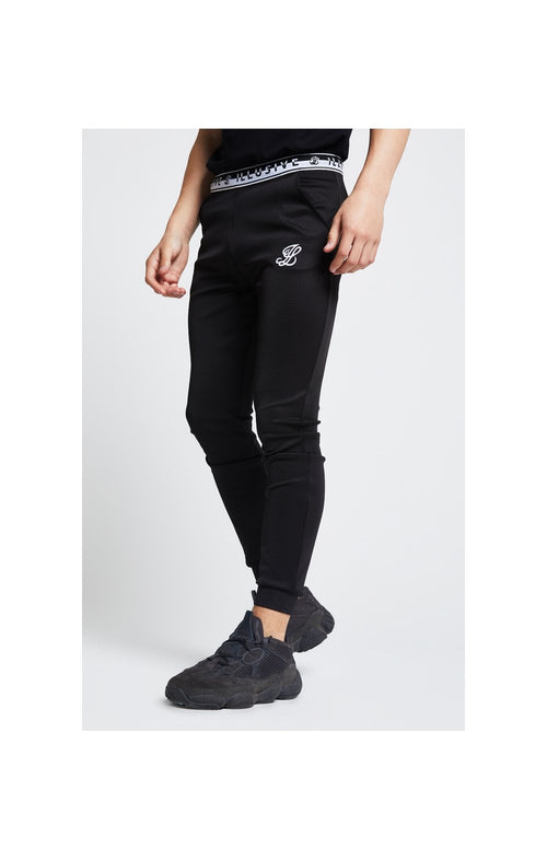 Illusive London Tape Cuffed Joggers – Black