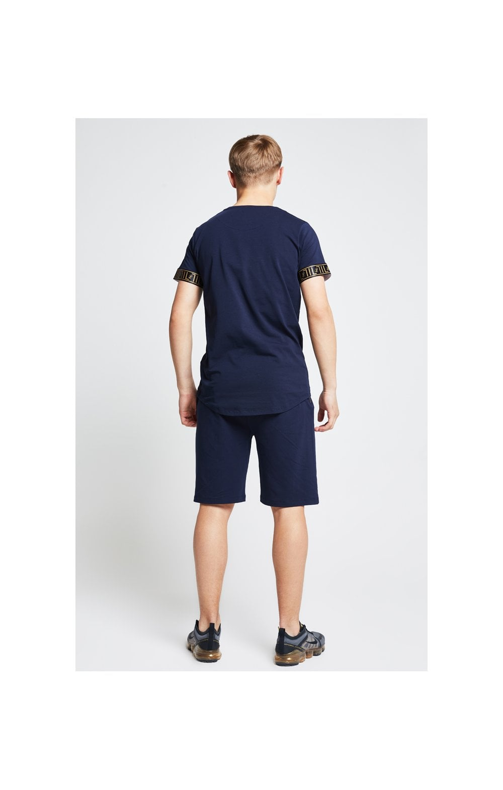 Load image into Gallery viewer, Illusive London Tape Jersey Shorts - Navy (5)