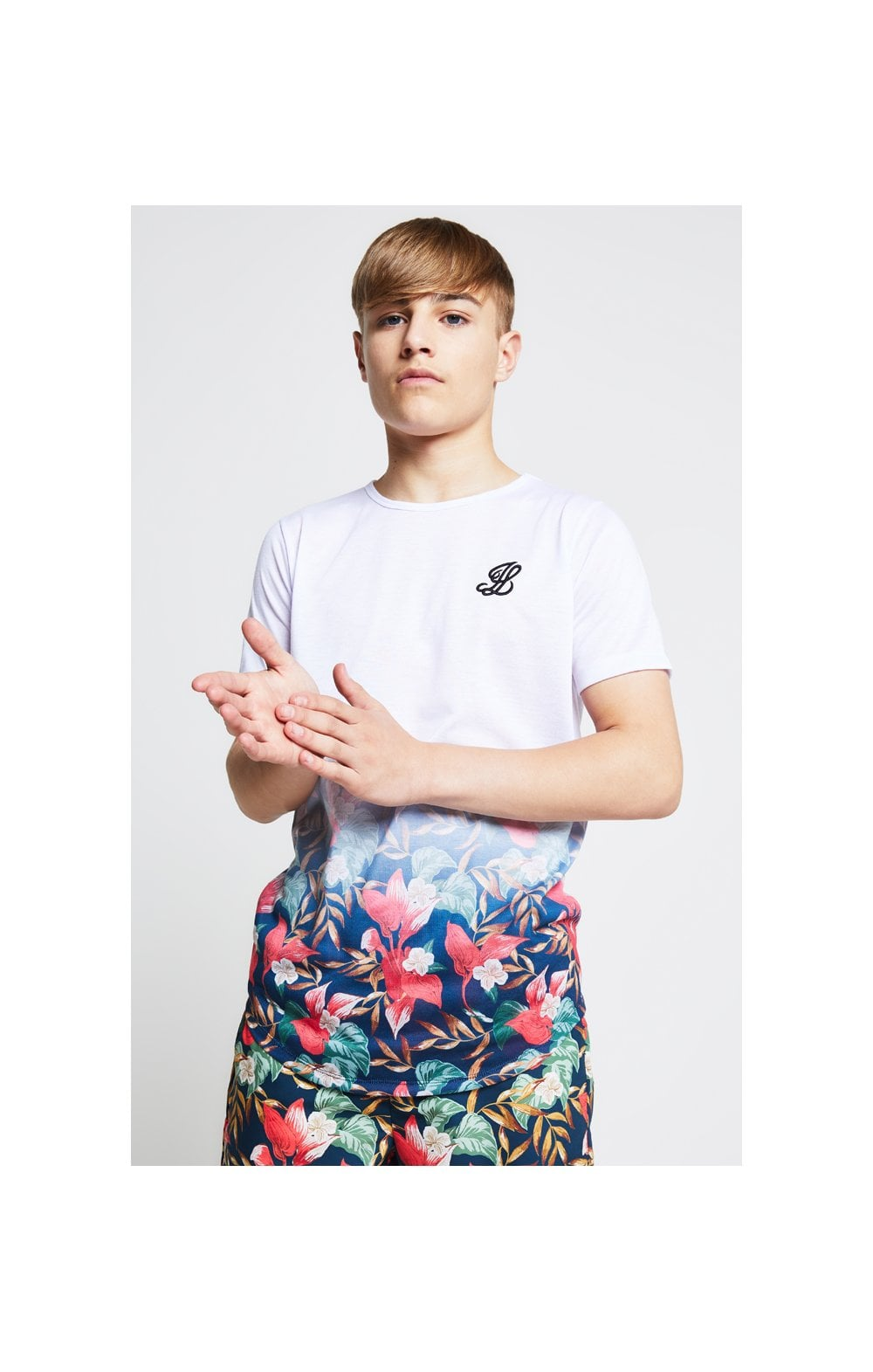Illusive London Fade Tee – White & Tropical Leaf