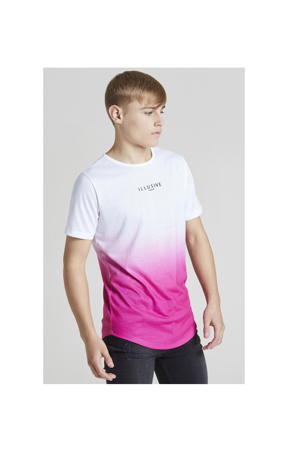 Illusive London Core Fade Tee – White & Pink (6)