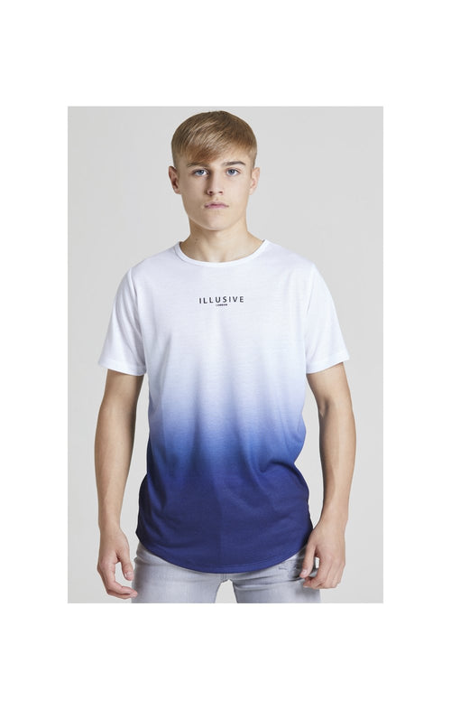 Illusive London Core Fade Tee – White & Navy