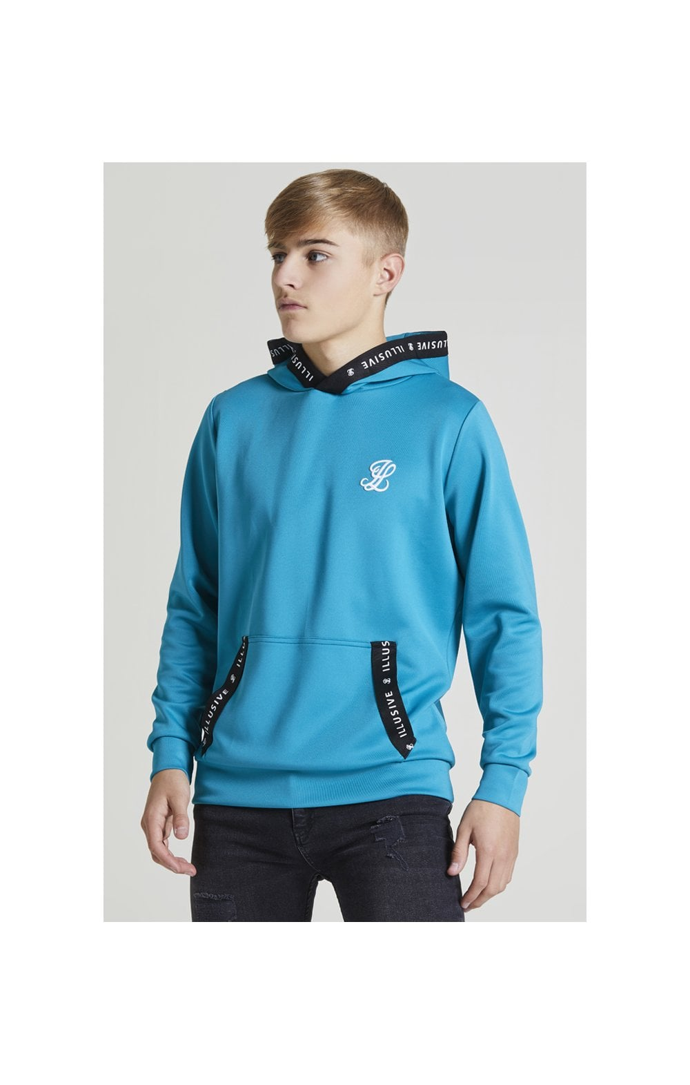 Illusive London Taped Overhead Hoodie - Teal Green (2)