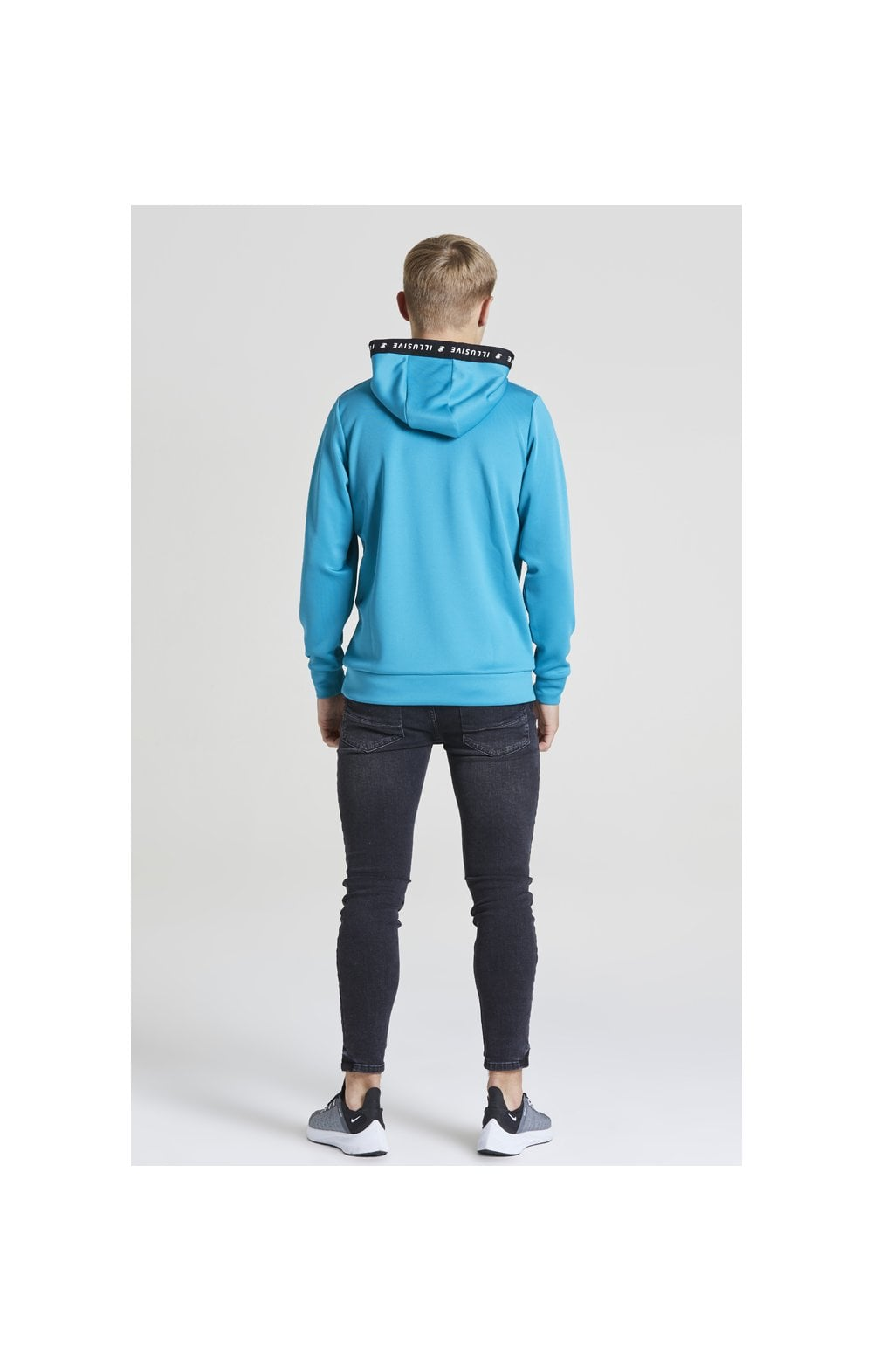 Illusive London Taped Overhead Hoodie - Teal Green (6)