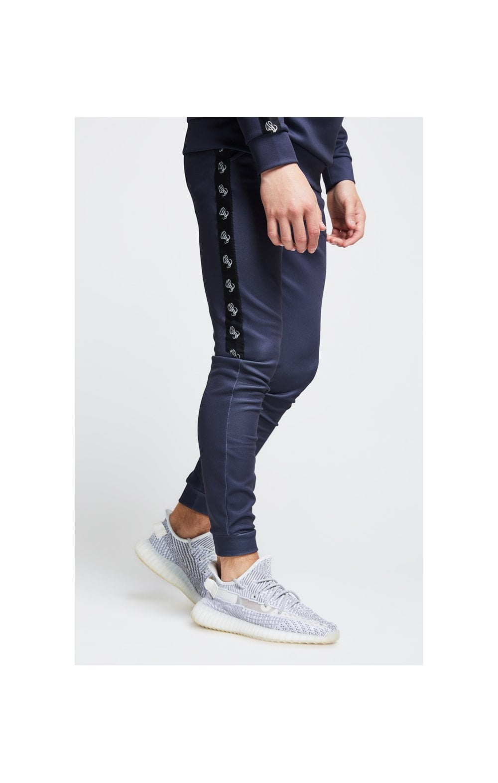Load image into Gallery viewer, Illusive London Tape Cuffed Joggers – Grey (1)