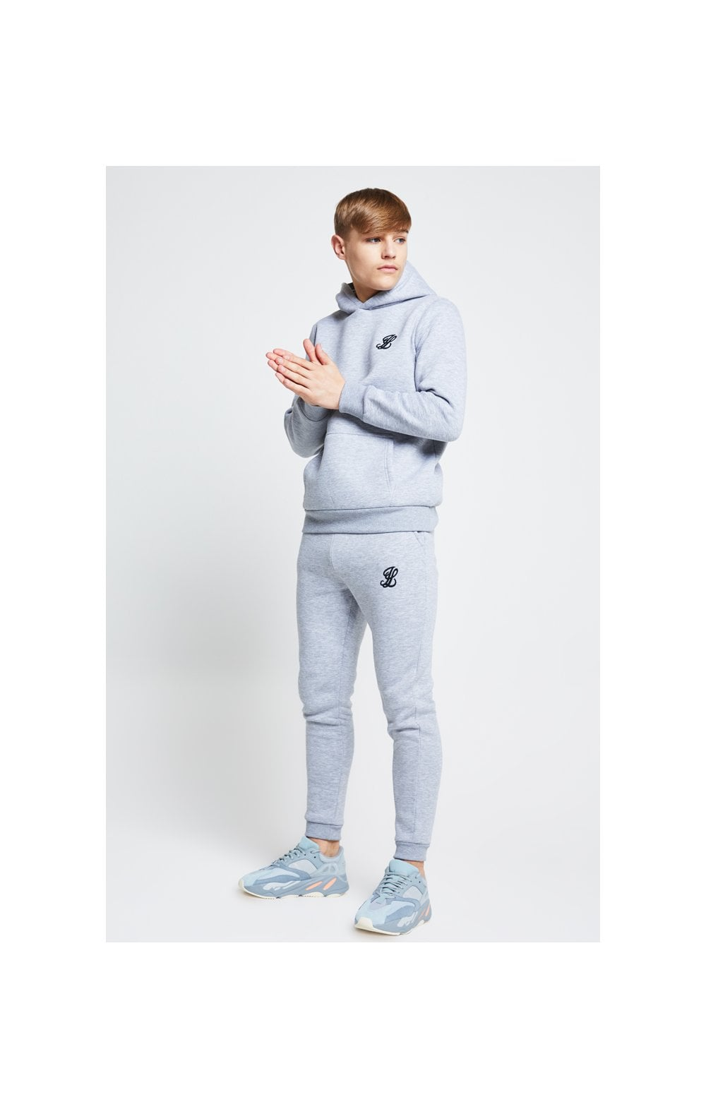 Illusive London Overhead Hoodie - Grey Marl (3)