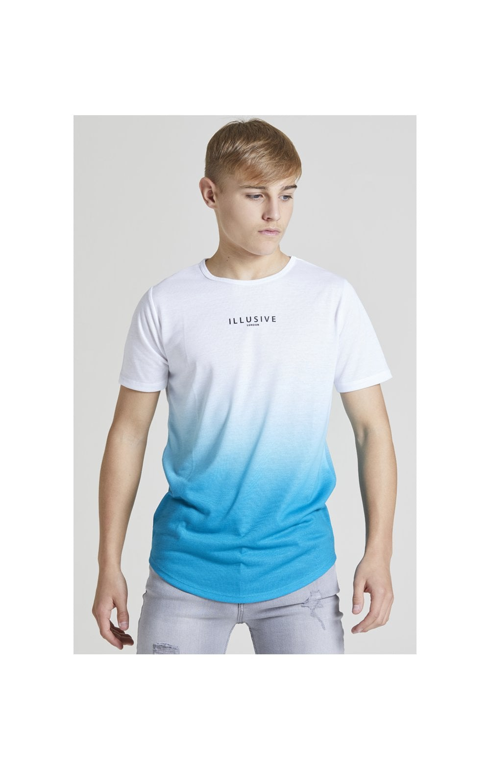 Illusive London Core Fade Tee – White & Teal Green (3)