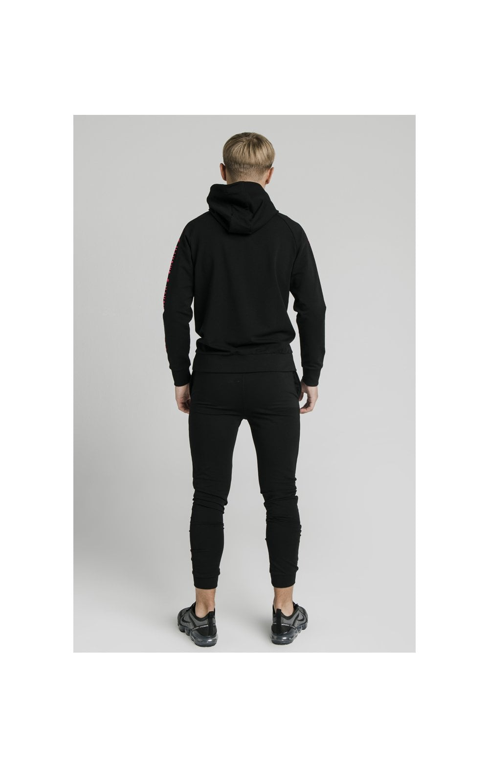 Illusive London Cuffed Joggers – Black & Pink (5)