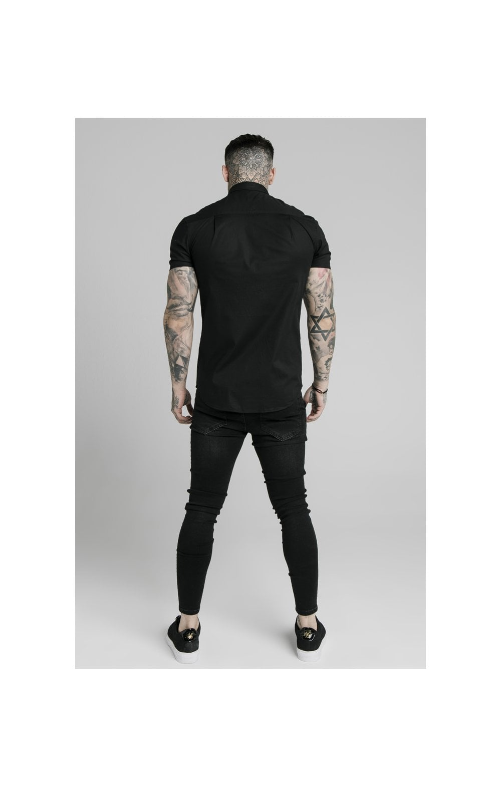 Load image into Gallery viewer, SikSilk S/S Standard Collar Shirt - Black (3)