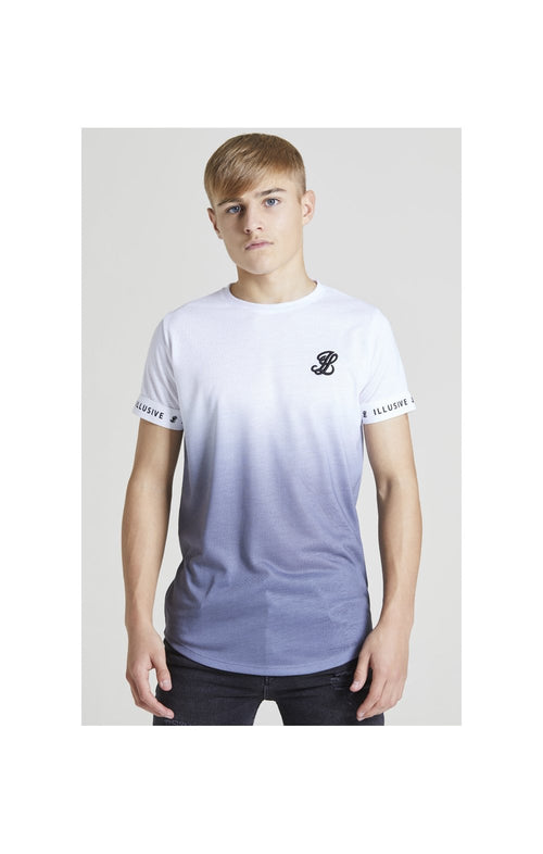 Illusive London Fade Tech Tee – White & Grey