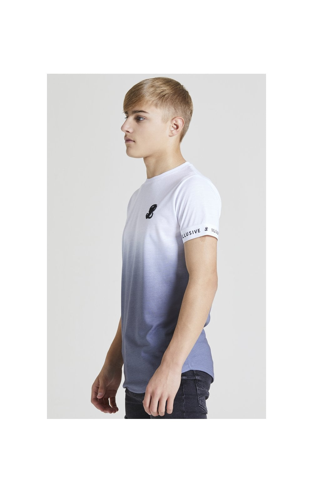 Load image into Gallery viewer, Illusive London Fade Tech Tee – White & Grey (1)