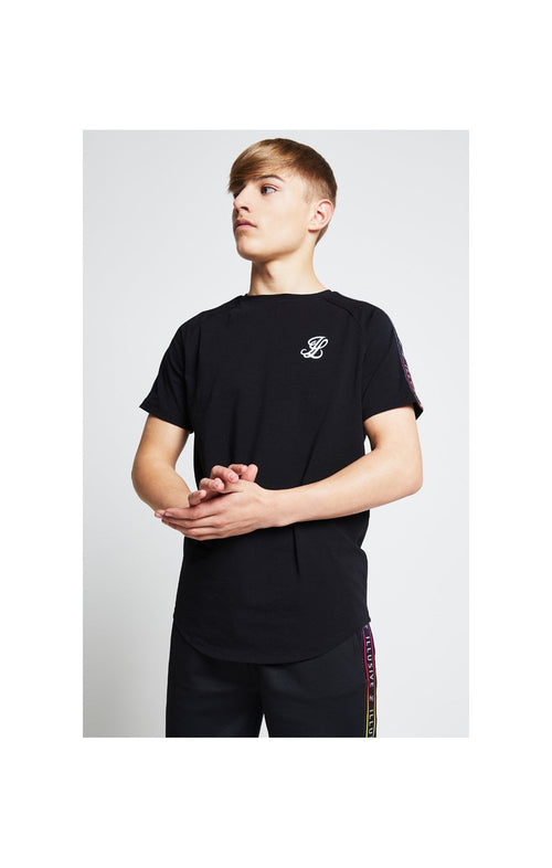 Illusive London Taped Raglan Tee - Black