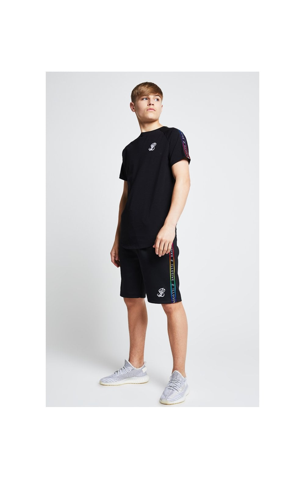 Illusive London Taped Raglan Tee - Black (4)