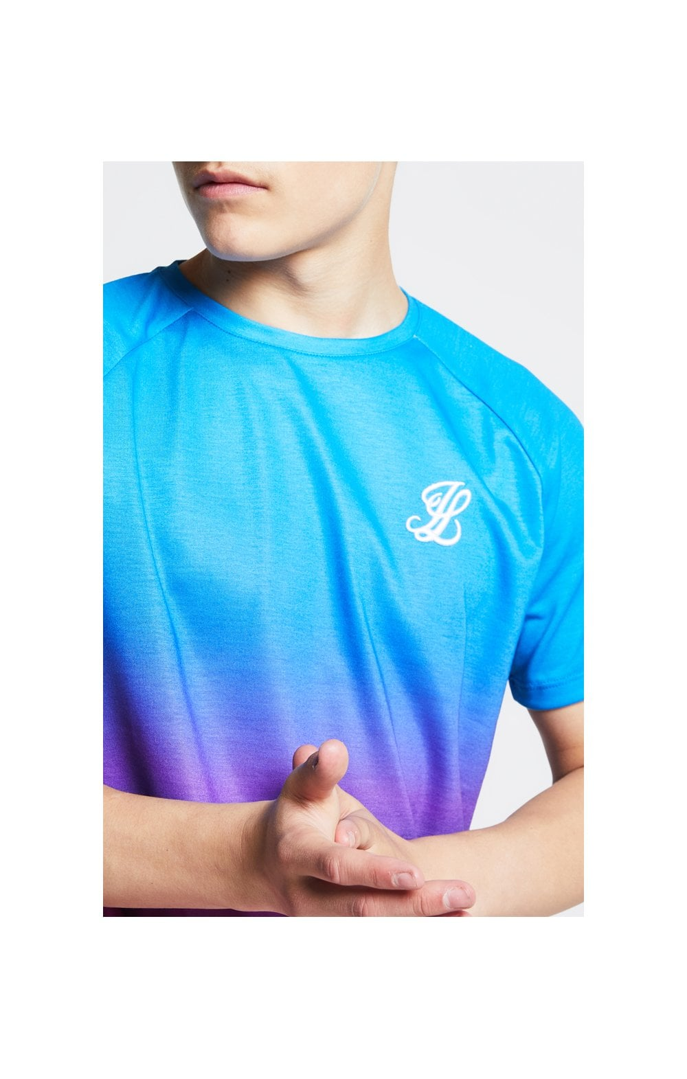 Load image into Gallery viewer, Illusive London Fade Tee - Blue & Pink (1)