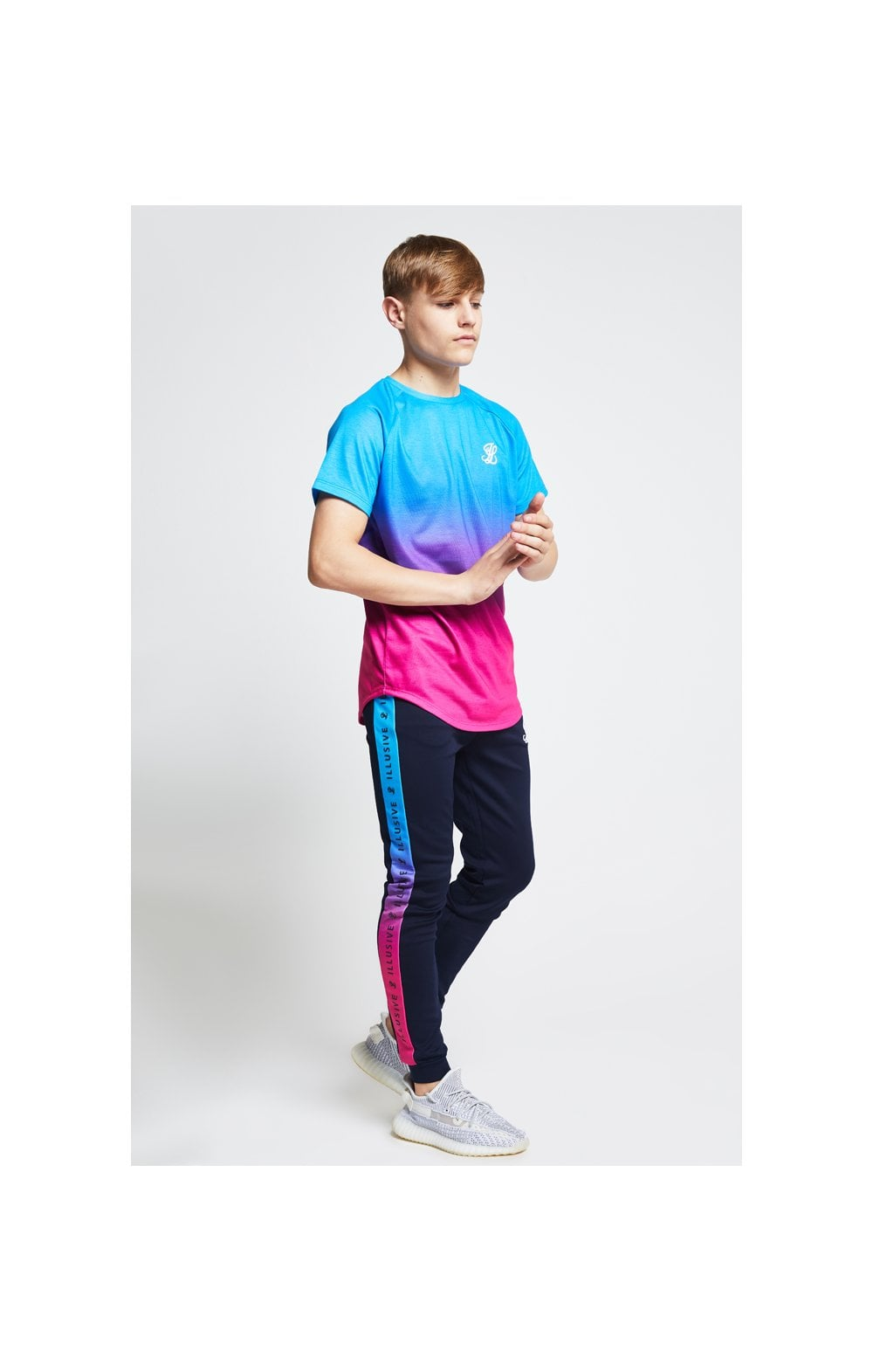 Load image into Gallery viewer, Illusive London Fade Tee - Blue & Pink (3)