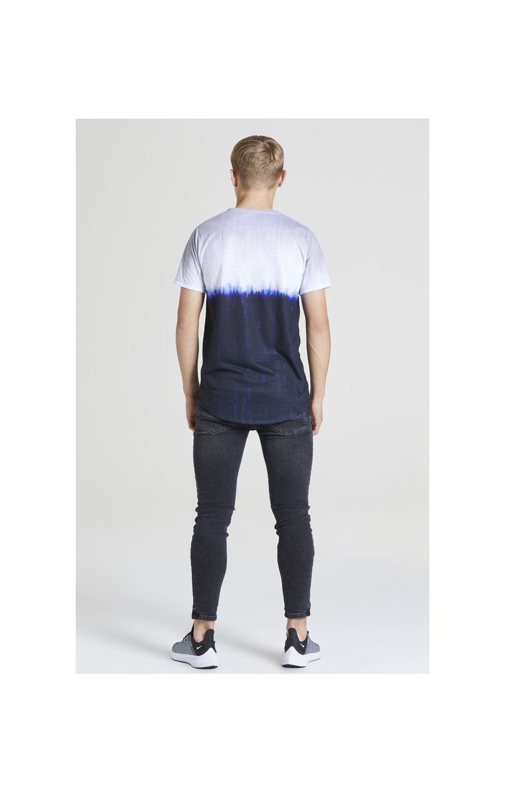 Illusive London Tie Dye Fade Tee - Grey, Navy & white (4)