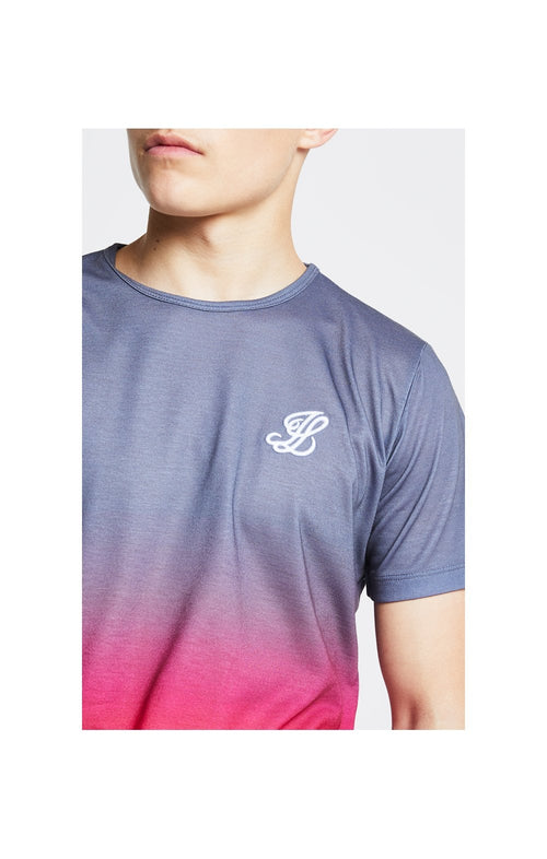 Illusive London Fade Tee - Grey & Pink