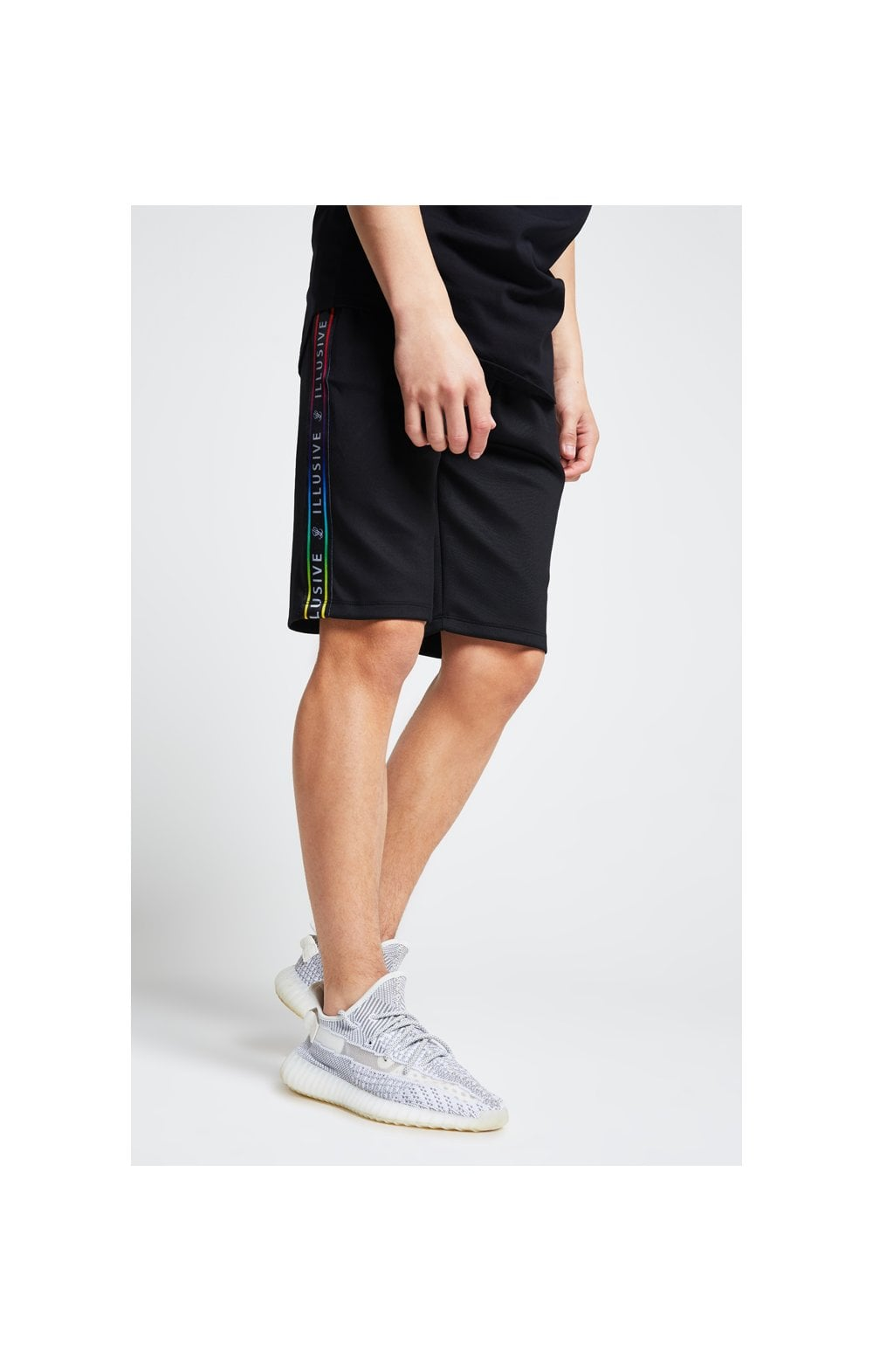 Illusive London Tape Jersey Shorts - Black (2)
