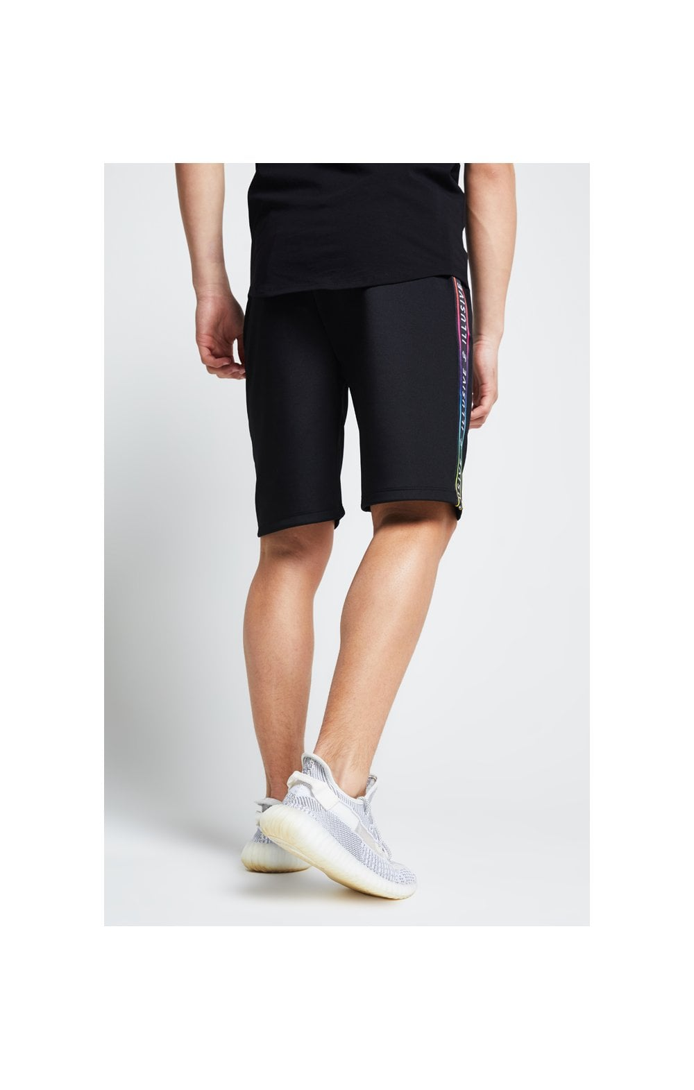 Illusive London Tape Jersey Shorts - Black (3)
