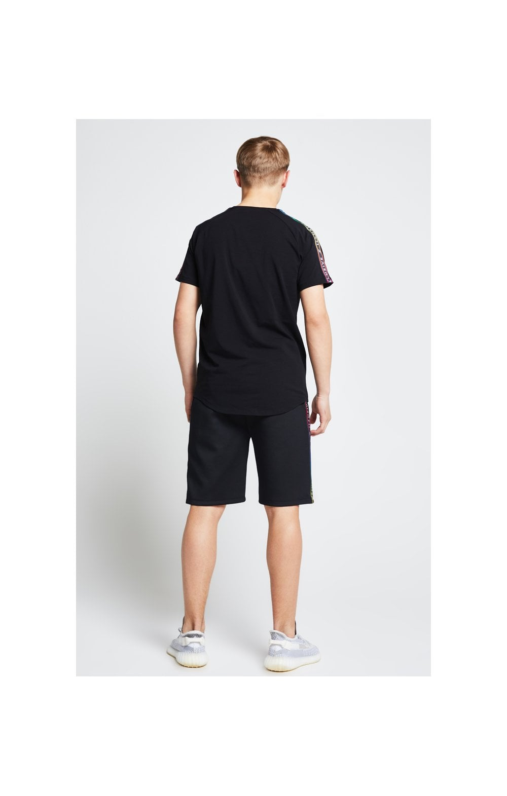 Illusive London Tape Jersey Shorts - Black (6)