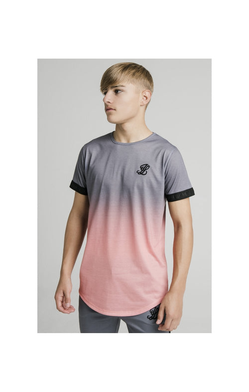 Illusive London Fade Tech Tee - Grey & Peach