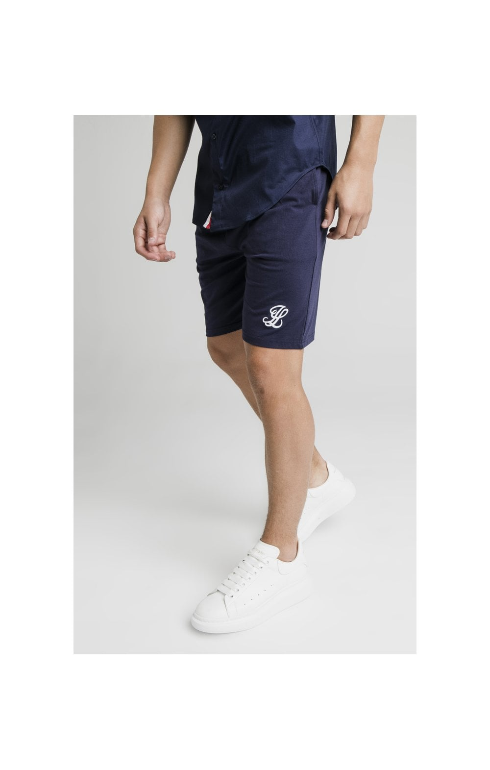 Load image into Gallery viewer, Illusive London Side Tape Jersey Shorts - Navy (2)