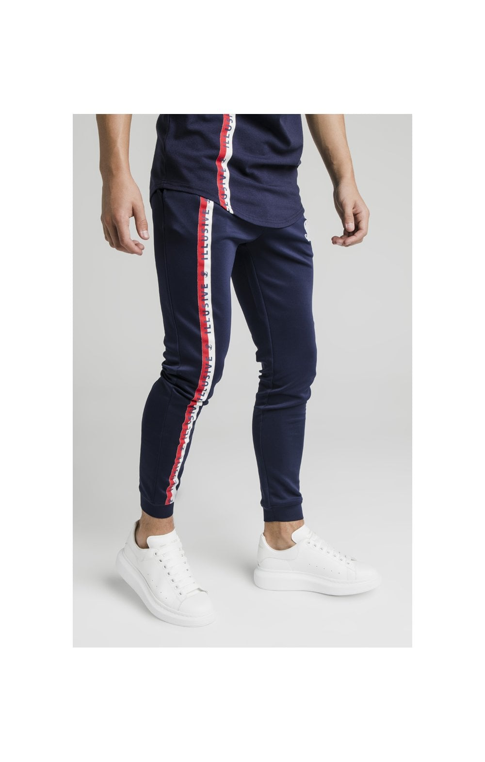 Illusive London Side Tape Joggers - Navy (2)