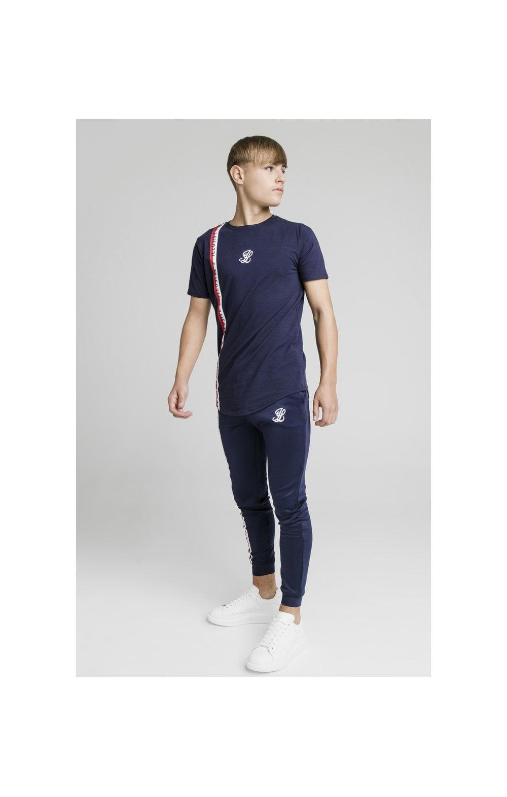Illusive London Side Tape Joggers - Navy (8)
