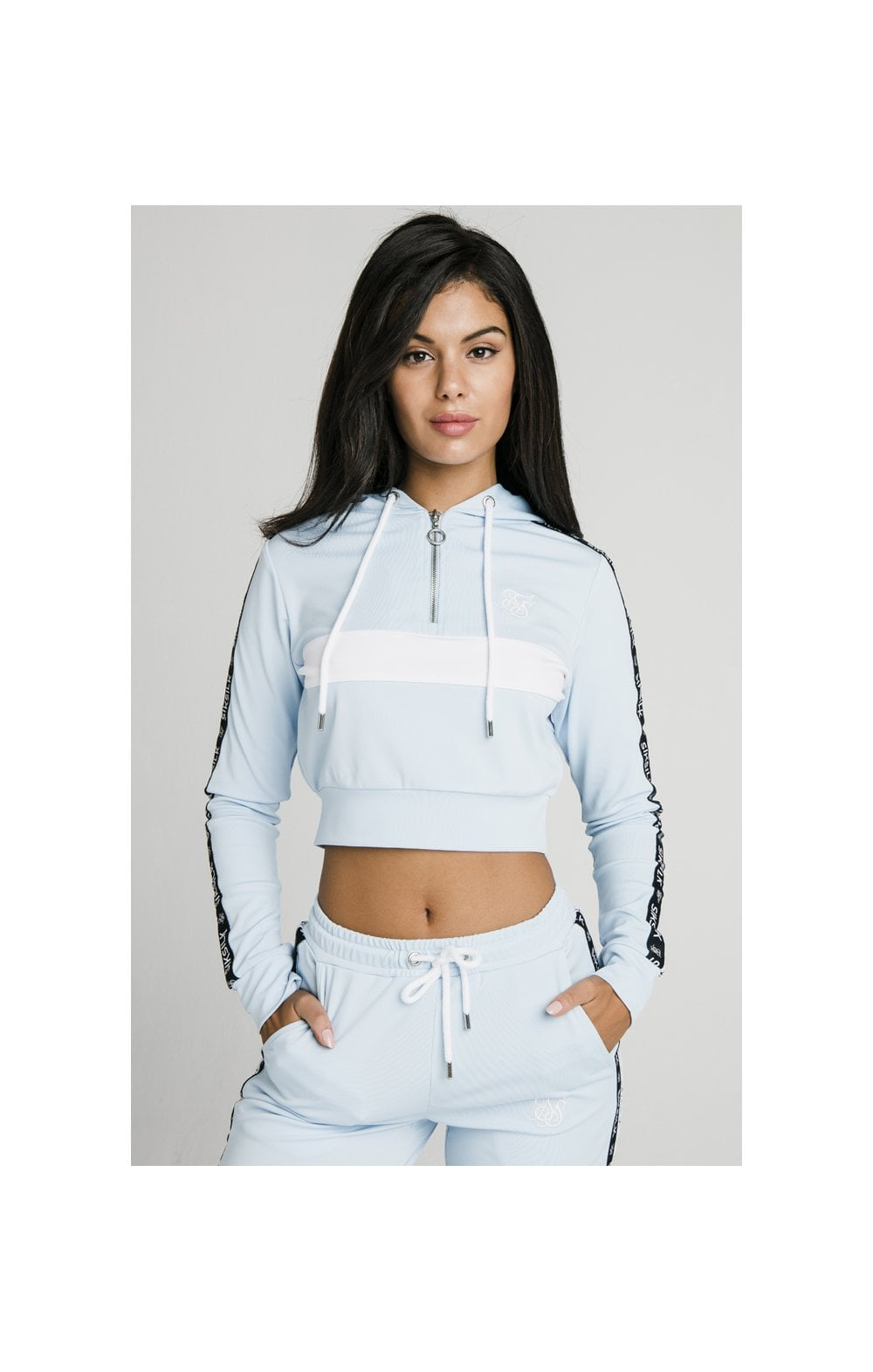 Load image into Gallery viewer, SikSilk Sky Tape Track Top - Light Blue