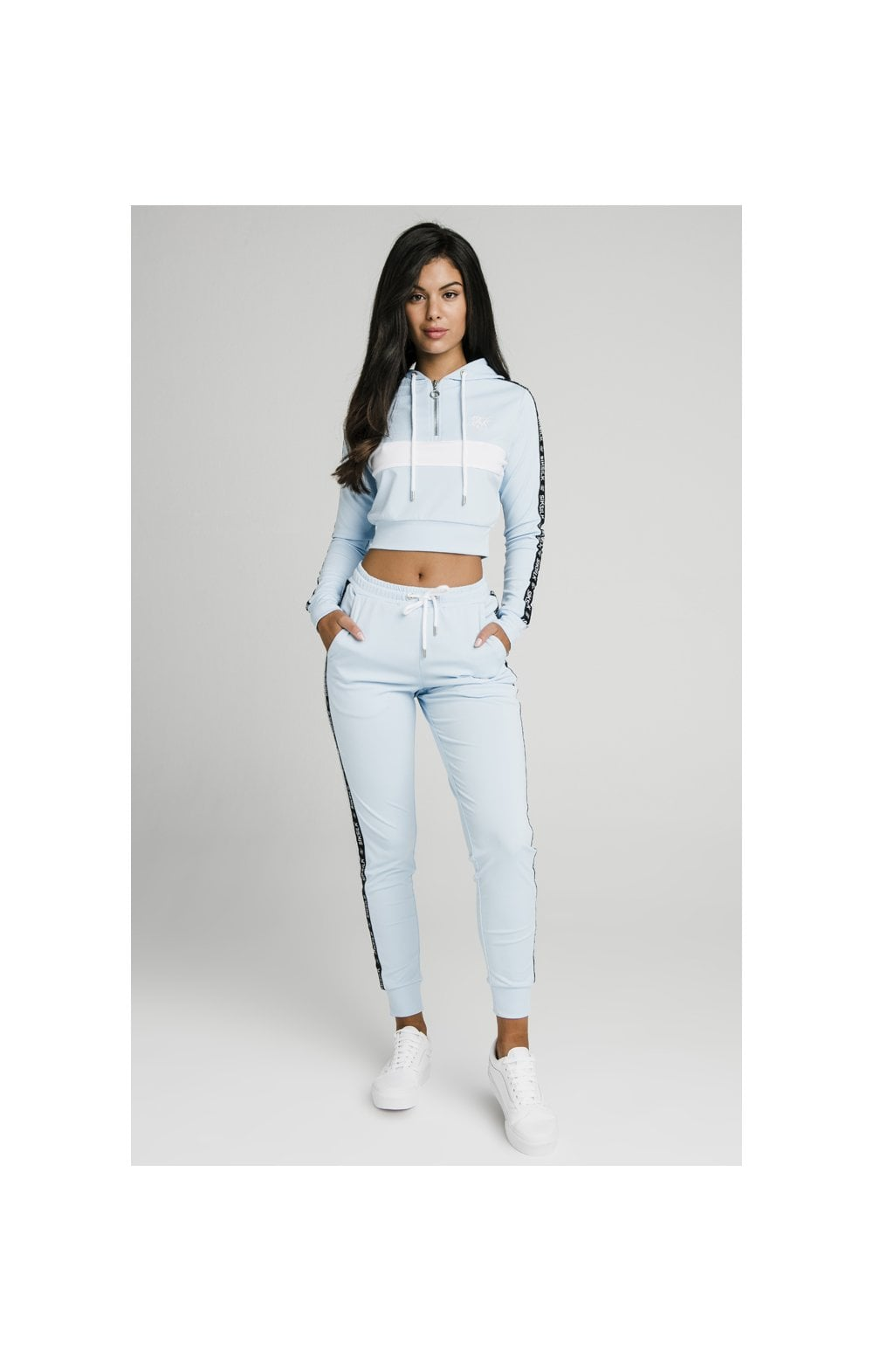 Load image into Gallery viewer, SikSilk Sky Tape Track Top - Light Blue (3)