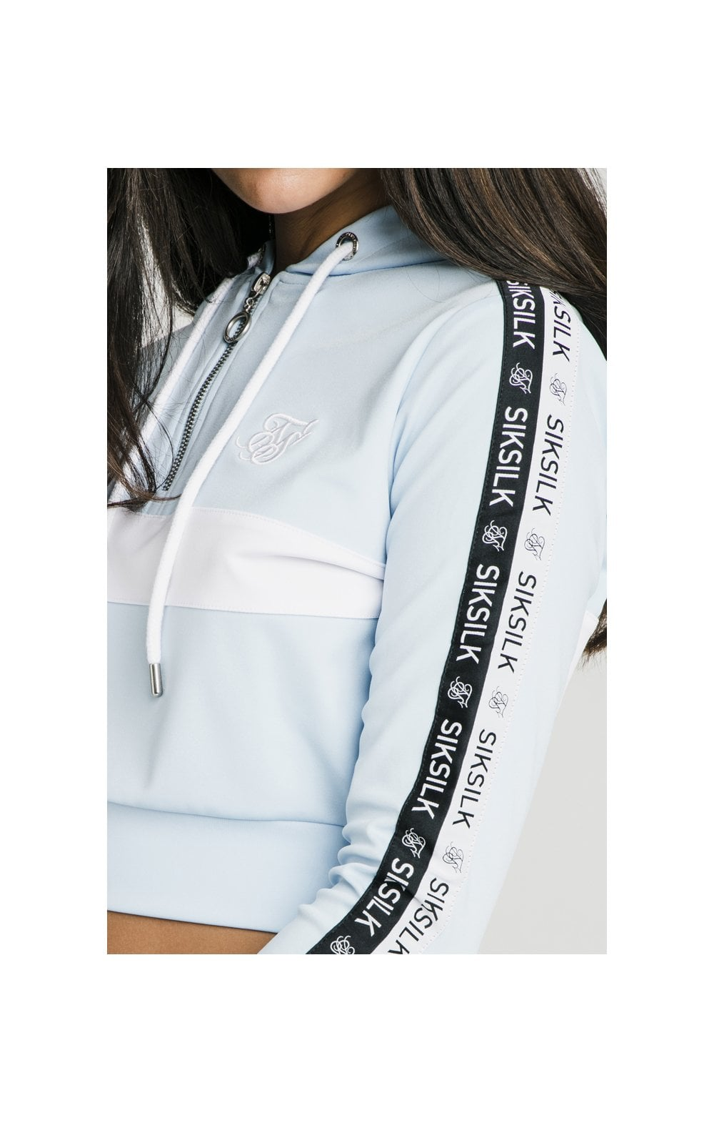 Load image into Gallery viewer, SikSilk Sky Tape Track Top - Light Blue (1)