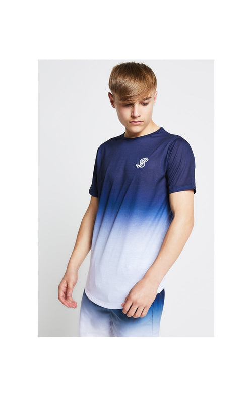 Illusive London Fade Tee - Navy & White
