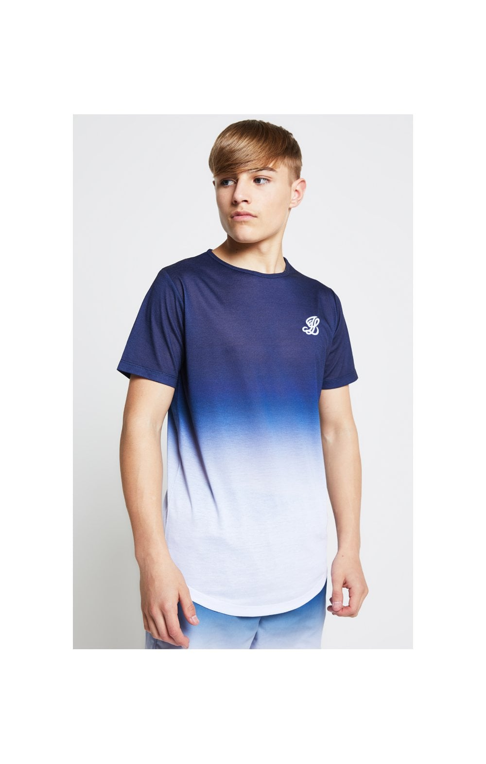 Load image into Gallery viewer, Illusive London Fade Tee - Navy & White (2)