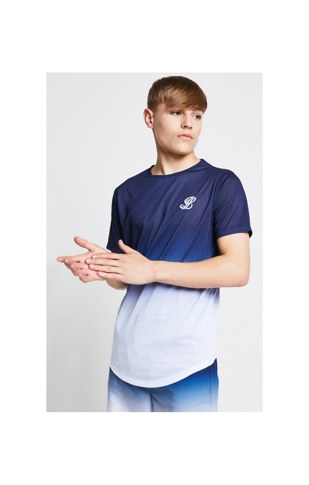Load image into Gallery viewer, Illusive London Fade Tee - Navy & White (3)