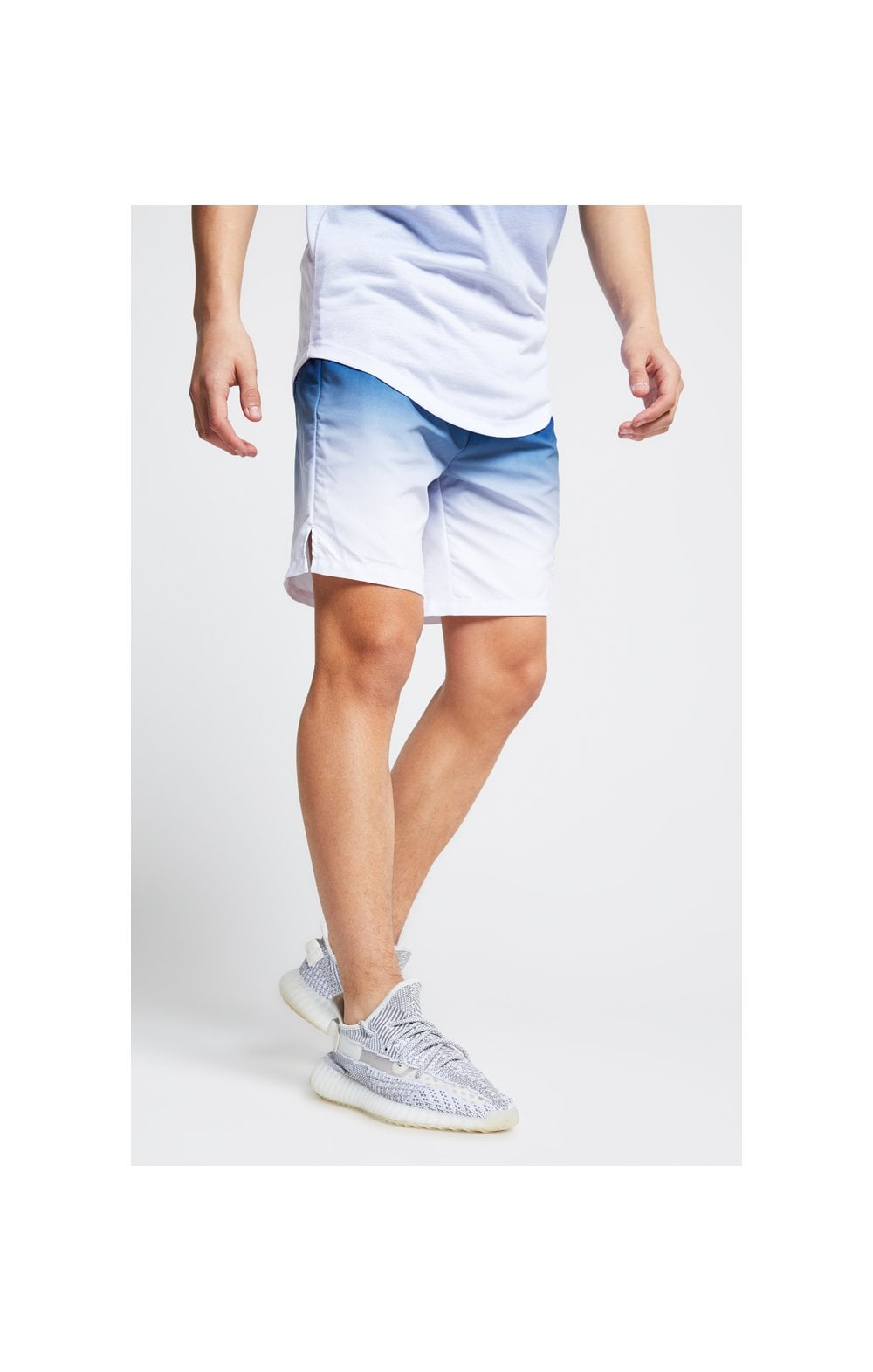 Load image into Gallery viewer, Illusive London Fade Swim Shorts - Navy & White (1)
