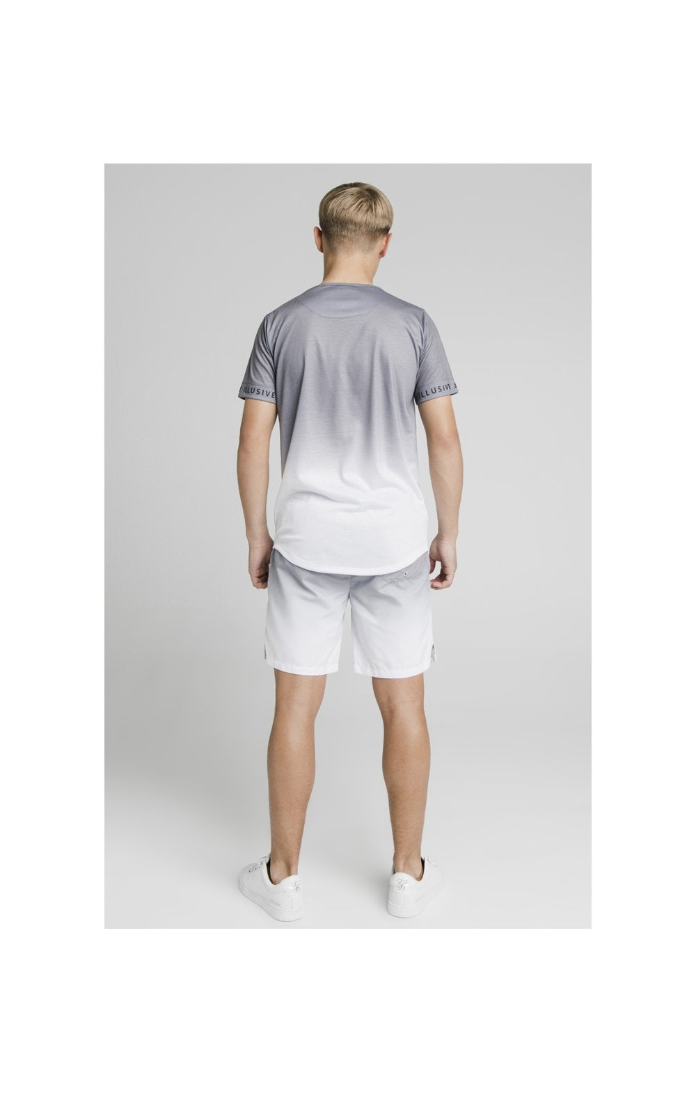 Load image into Gallery viewer, Illusive London Fade Swim Shorts - Grey & White (7)